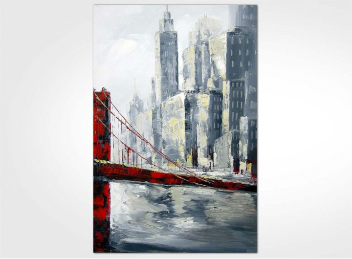 Toile Tableau Pont Golden Gate Rouge New Art Gallery