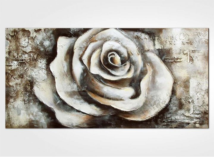 Nature morte moderne, rose blanche