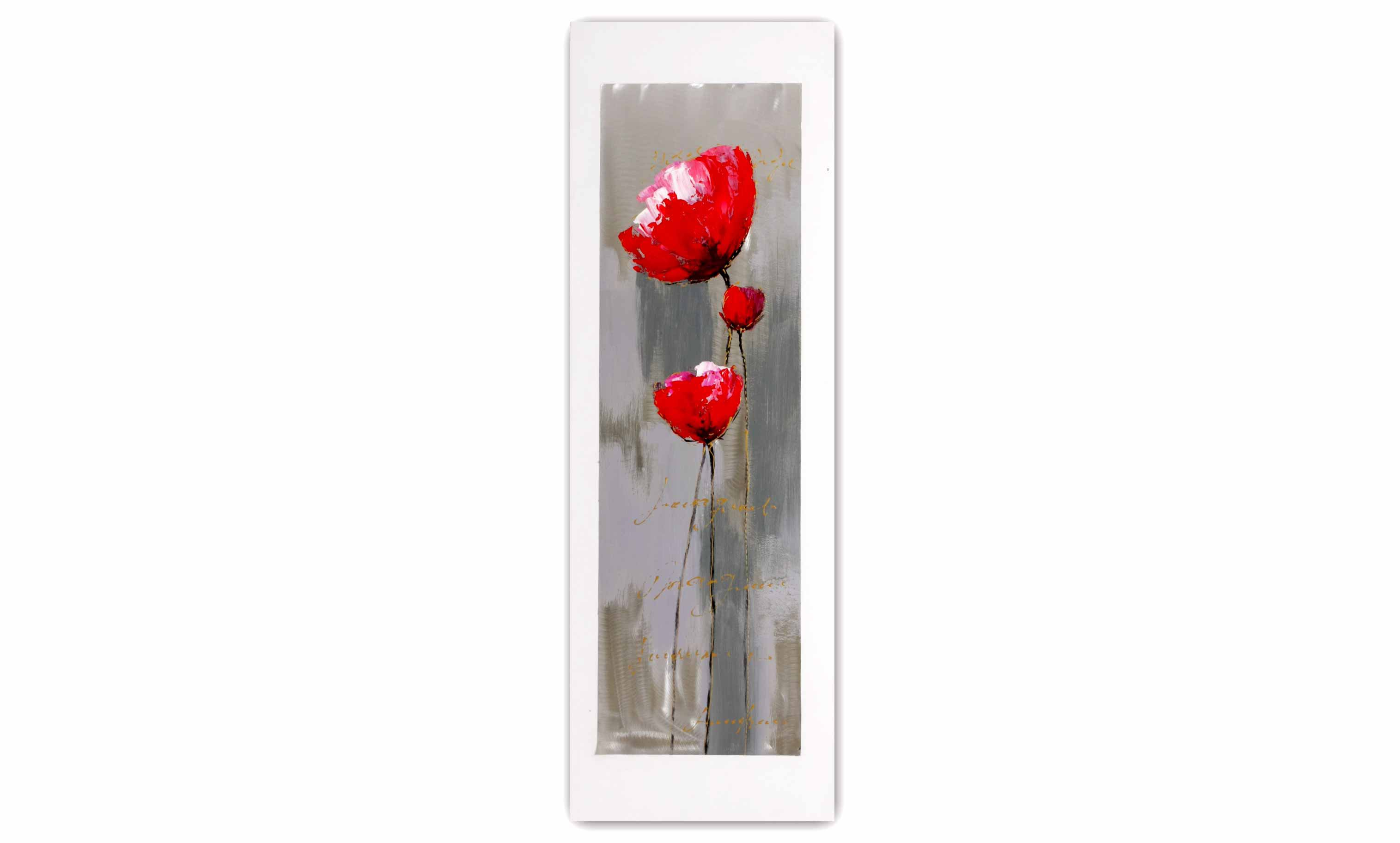Tableau coquelicot 40 x 120 new art gallery - Tableau design metal ...